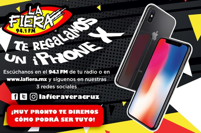 ¡La Fiera 94.1 FM tiene para ti un iPhone X! (+VIDEO)