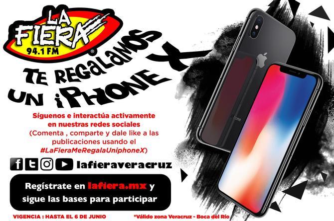 Aún estás a tiempo de participar por el iPhone X que regalamos en La Fiera 94.1 FM