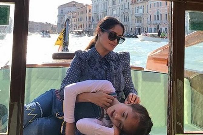 Hija de Salma Hayek recibe elogios en Instagram por esto... (+VIDEO)