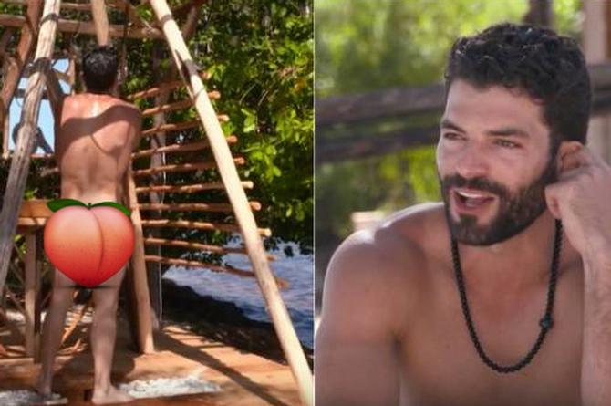 Adrian Di Monte se desnuda en el Reto 4 Elementos (+VIDEO)