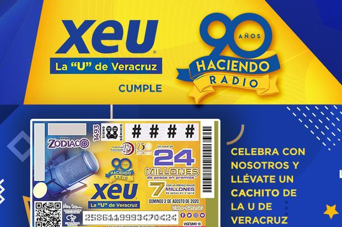 Este domingo en gran sorteo Zodiaco por los 90 años de XEU ¿ya tienes tu cachito?