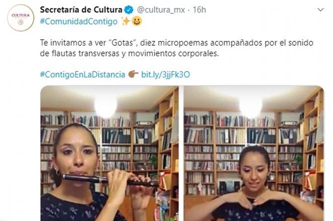 Albures, burlas y risas por tuit de la Secretaría de Cultura de México