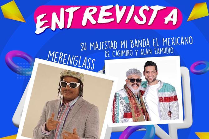 'Su majestad mi banda el mexicano' y 'Merenglass' en entrevista exclusiva en La Fiera